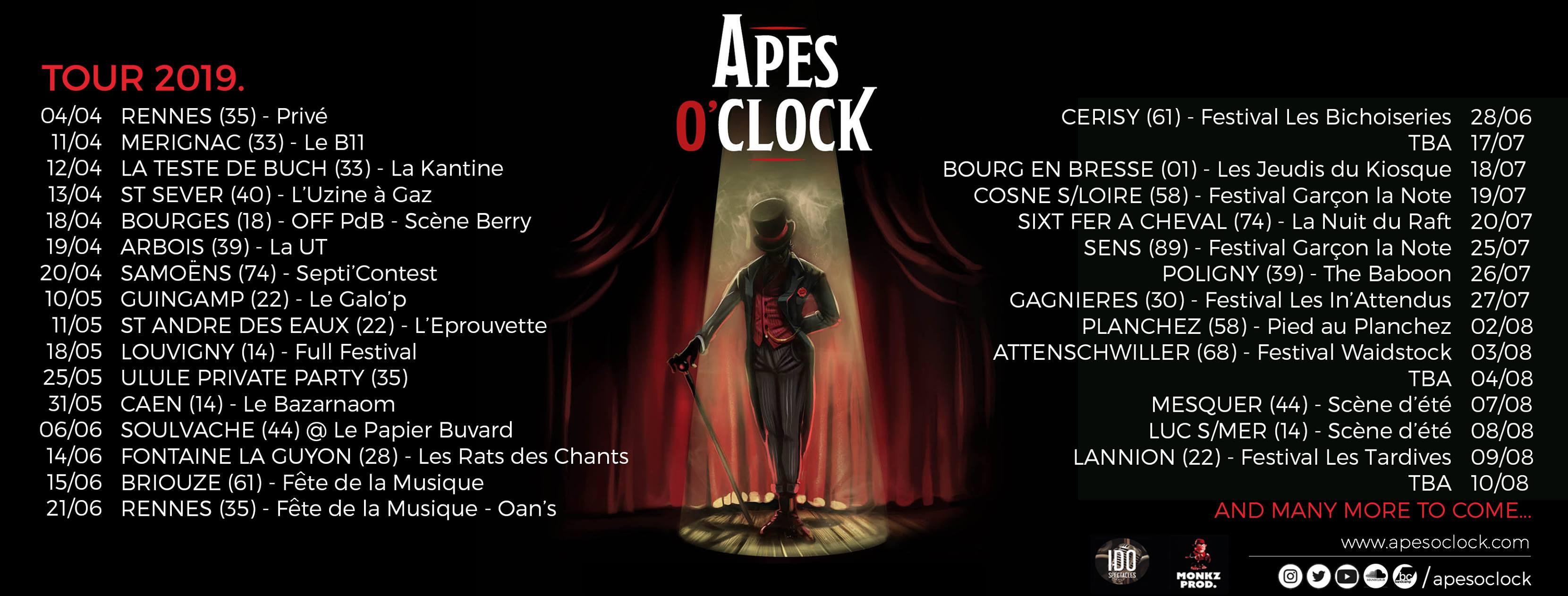Apes O' Clock - Tournée 2019