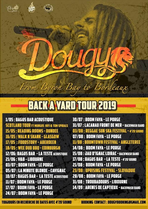 Dougy - Affiche Tour 2019 Europe