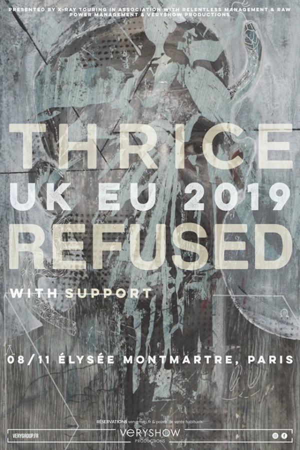 thrice, refused, veryshow, paris, live, 2019