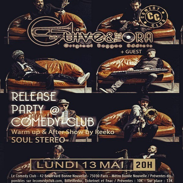 Flyer Guive & The Ora, Release party, le 13 mai - Comedy Club - Paris
