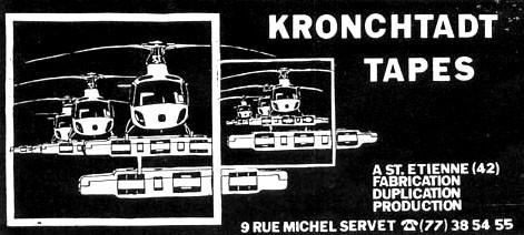 kronchtadt tapes, punk, saint-etienne