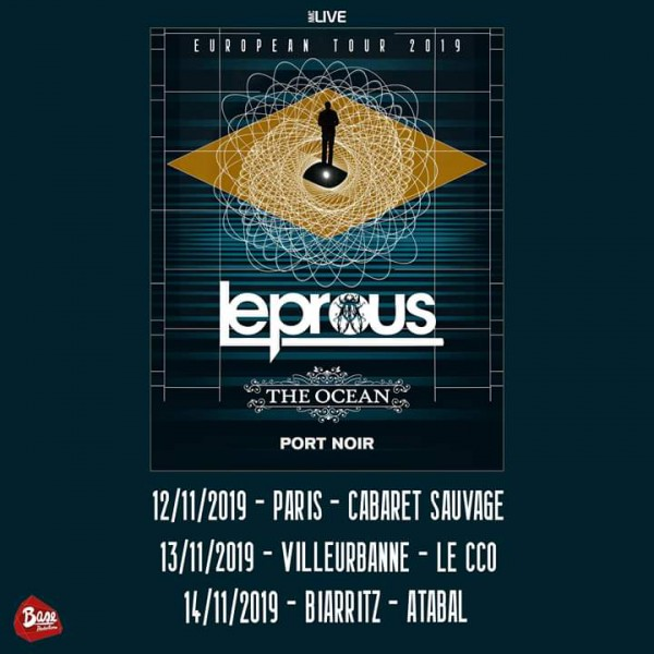 leprous, base productions, tournée en france, metal progressif, 2019, the ocean, port noir