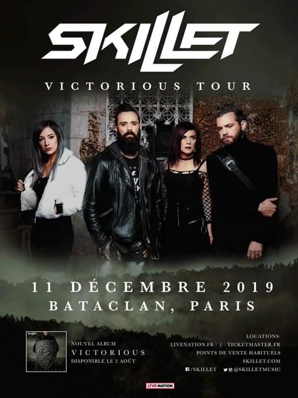 Affiche, tournée, Skillet, Victorious tour
