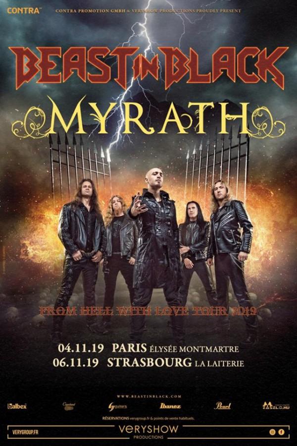 Beast In Black, Myrath, tournée, 2019, Shehili, From Hell With Lov, blazing desert metal, heavy metal, metal oriental
