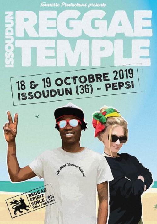 Affiche Issoudun Reggae Temple 2019