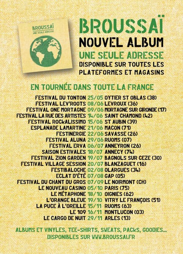 Dates Tournée Broussaï
