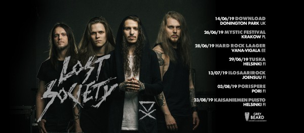 lost society, tour, finland, band, 2019, summer, fest, single, album, no absolution, braindead, download