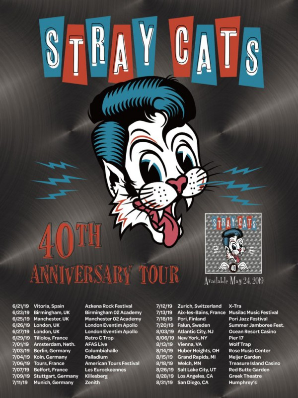 Stray Cats Tour dates 40