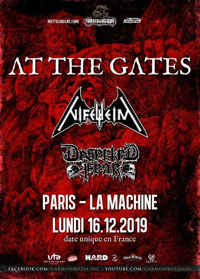 At The Gates, Nifelheim, Deserted Fear, Live, Paris, 2019