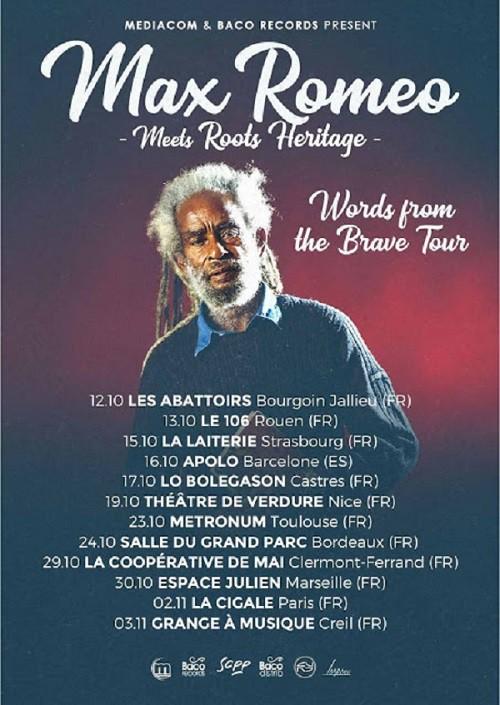 Max Romeo en tournée