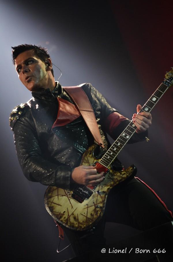 guitariste, rammstein, live, paris