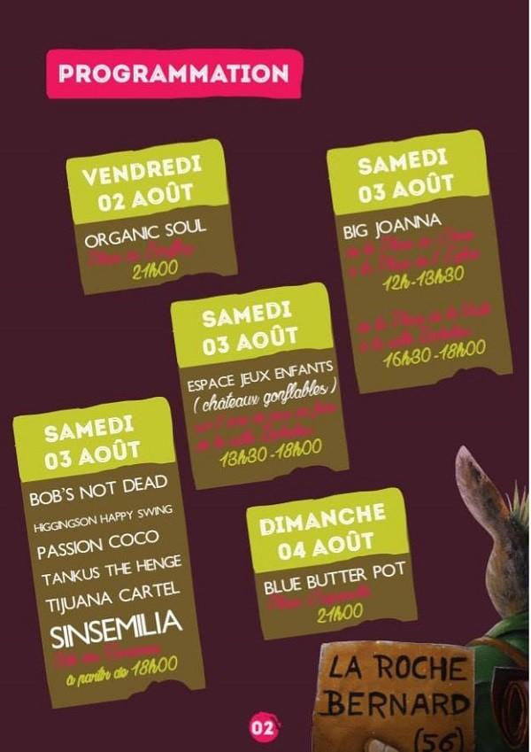 Flyer programmation festival des Garennes