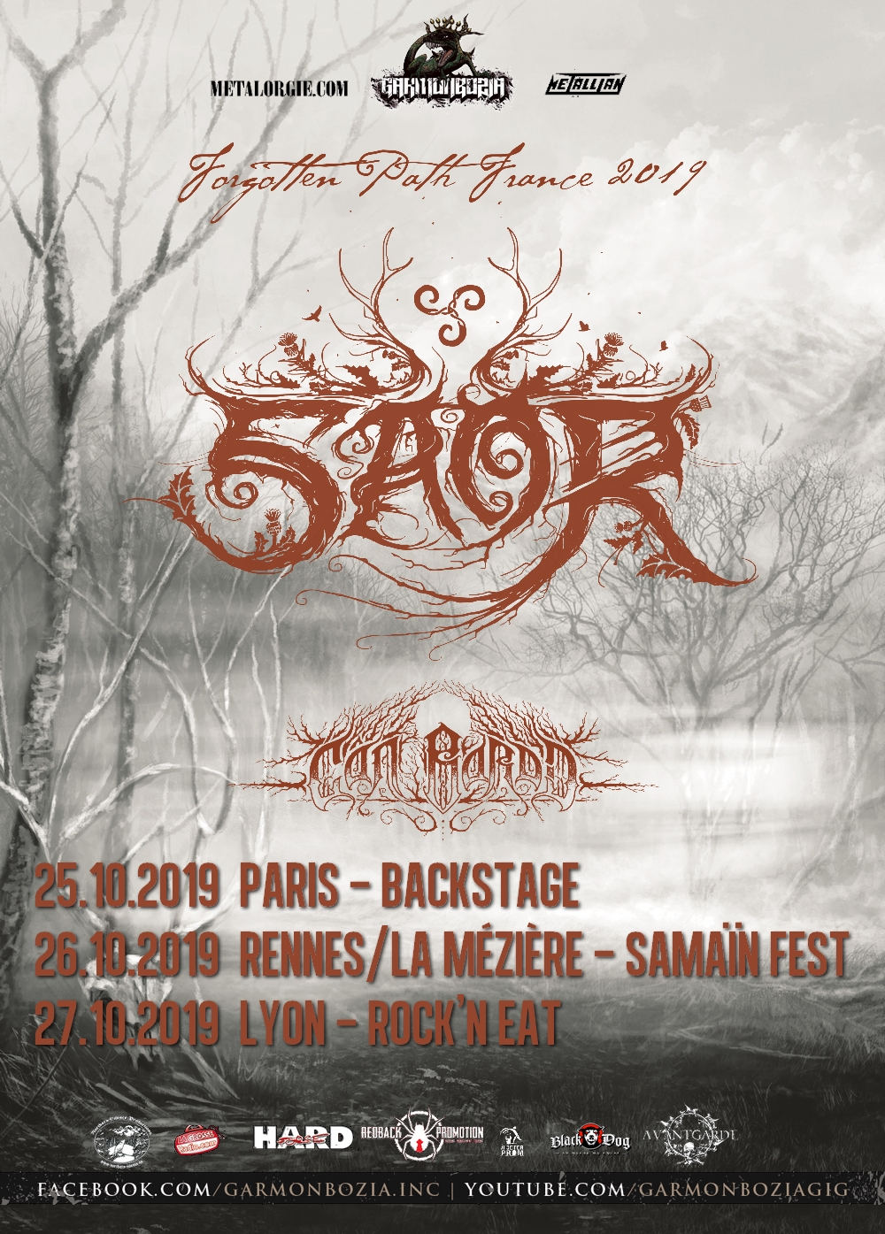 Saor, Cân Bardd, Tour, France, 2019, Paris, Rennes, Lyon