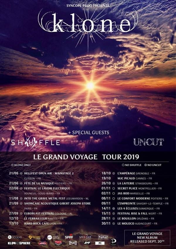 klone, le grand voyage, tournée, 2019
