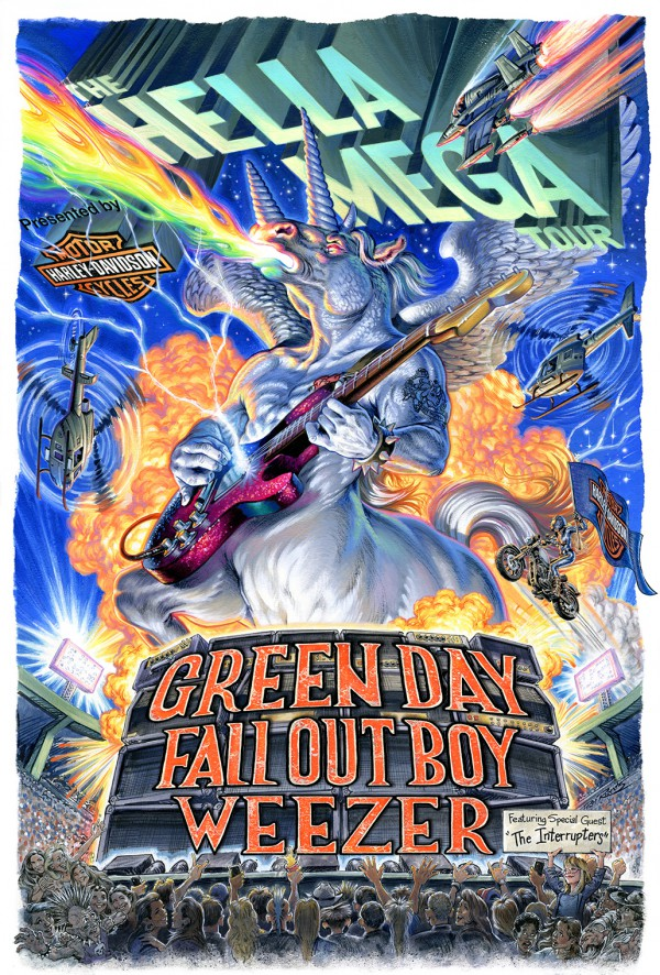 green day, fall out boy, weezer, father of all motherfuckers, la défense arena, pop punk