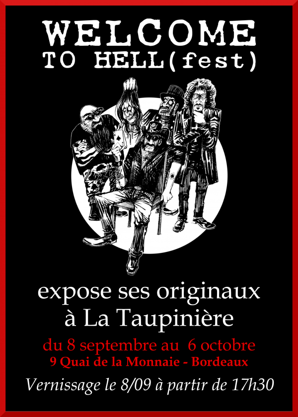 wellcome to hell(fest), exposition, livre, bd, bordeaux, hellfest