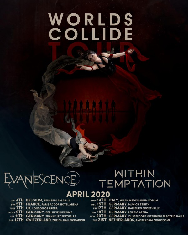 evanescence, within temptation, worlds collide, tour, europe, france, paris, accorhotel arena