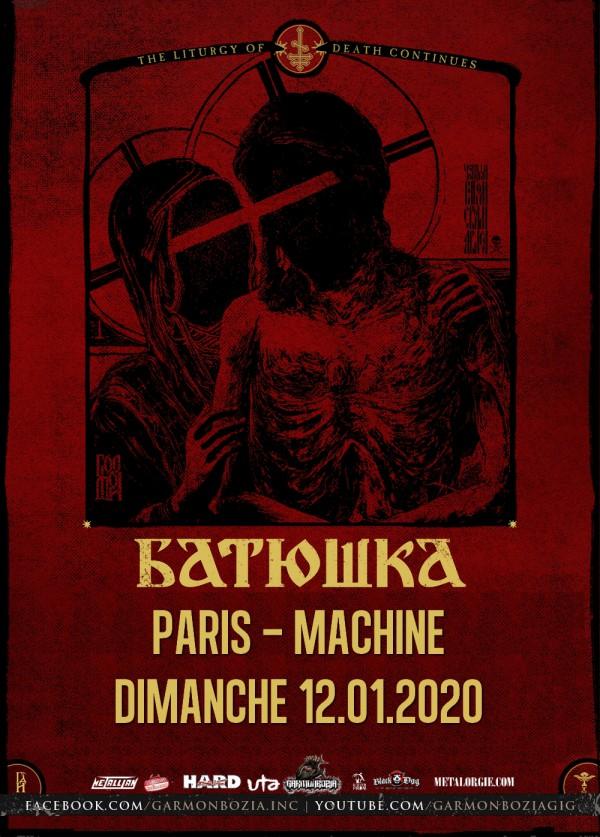 BATUSHKA, black metal, 2020, concert, machine du moulin rouge, garmonbozia