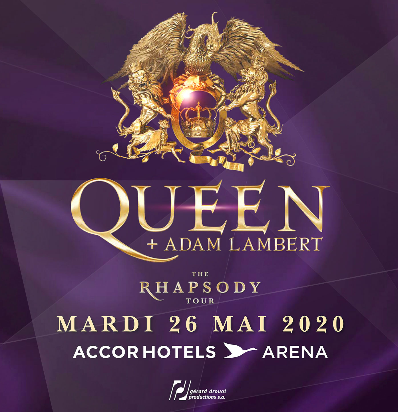 Queen + Adam Lambert, AccorHotels Arena, Paris, 25/05/20