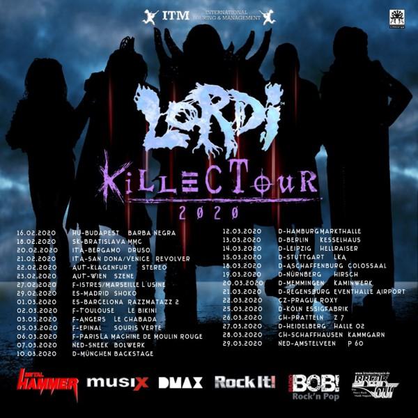 Lordi, Killection, nouvel album, 2020, Killectour, tournée européenne, AFM, Heavy Metal, Rock
