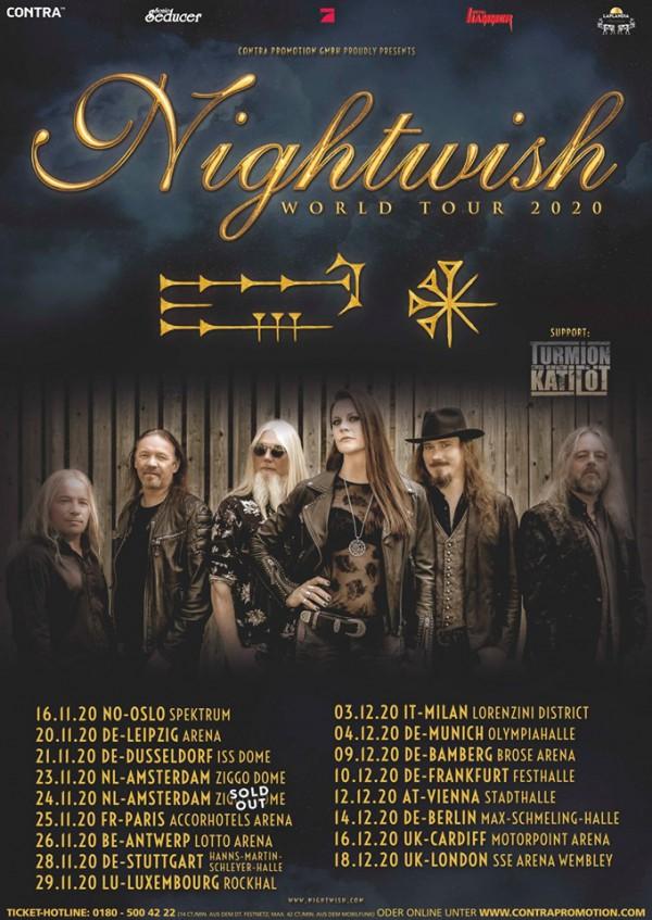 nightwish, tour, europe, 2020, accorhotel arena, paris, metal,