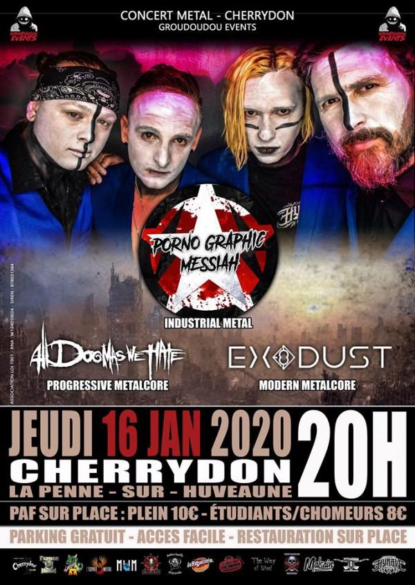 Porno Graphic Messiah, metal indus, Interdit, nouvel album, 2020, french riviera,  Alldogmaswehate, Exodust, Another Management