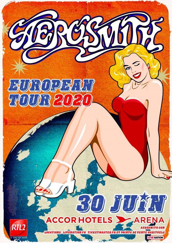 Aerosmith, tournée 2020, Bercy, Accorhotels arena, cinquante ans, anniversaire, france