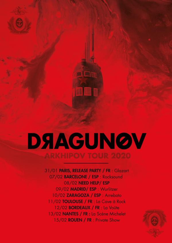 Dragunov, post metal, arkhipov, tournée, 2020