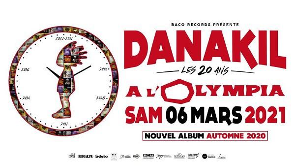 Flyer concert des 20 ans - Danakil, le 6 mars 2021 à l'Olympia