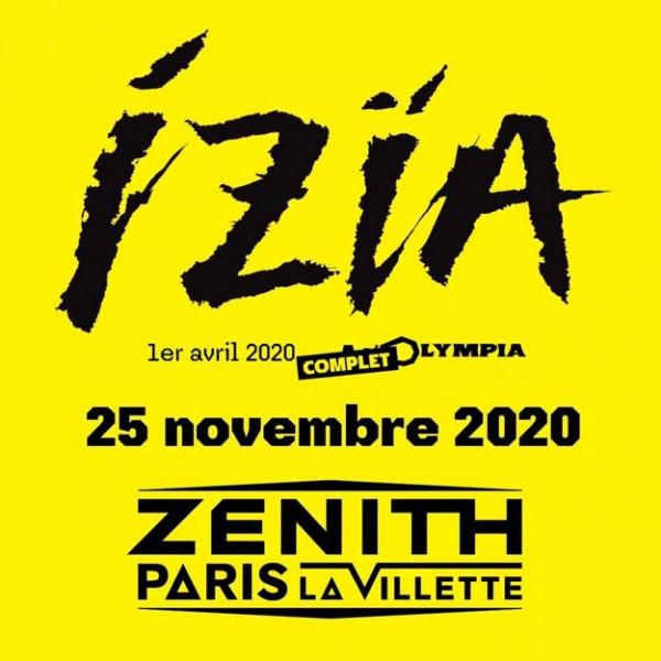 Izïa, concert, rock, concerts, olympia, zénith de paris, zénith, 2020