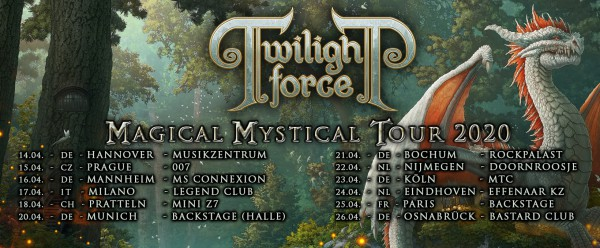 Twilight Force, Dragony, Silver Bullet, Magical Mystical Tour, concert, Garmonbozia Inc., Paris, 2020, Backstage By The Mill