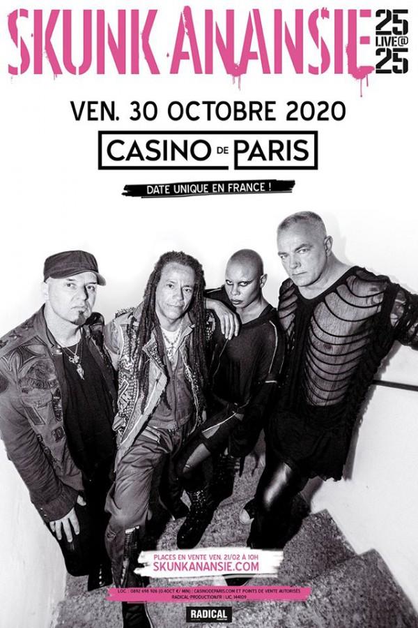 Skunk Anansie, rock, 2020, concert, Casino de Paris, France, Paris