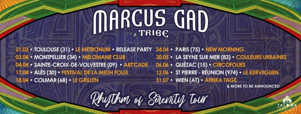 Marcus Gad Rhythm Of Serenity Tour 2020