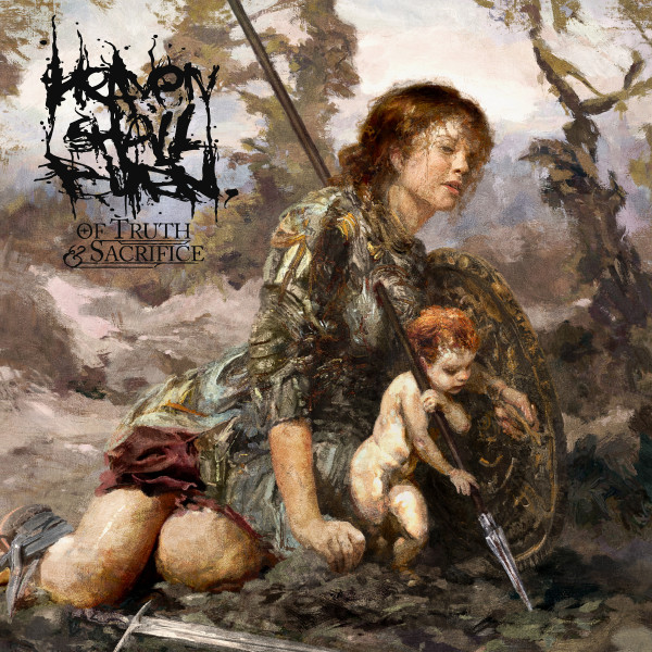 heaven shall burn, cover art, eliran kantor, metalcore, deathcore, of truth and sacrifice