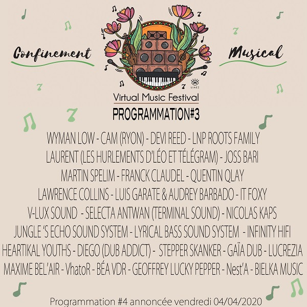 Programmation Confinement Musical - Semaine 3
