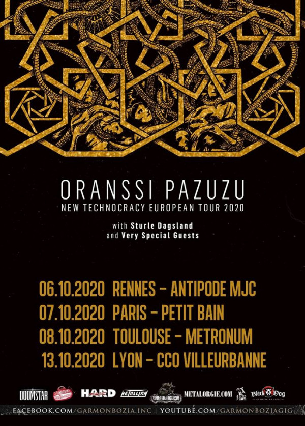 Oranssi Pazuzu, new technocracy european tour, Sturle Dagsland, 2020, dates françaises,
