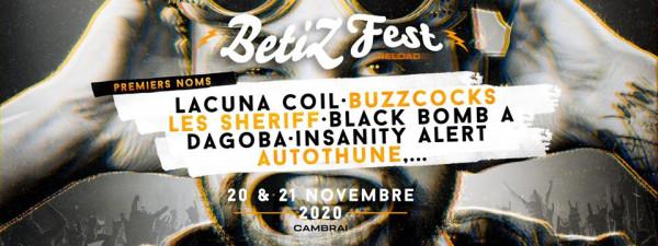 BetiZFest, 2020, novembre, Cambrai, Black Bomb A, Insanity Alert, Lacuna Coil