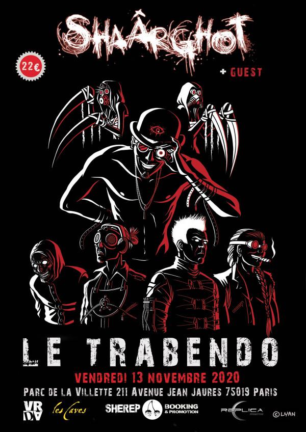 Shaârghot, concert, Paris, Trabendo, 2020, metal indus