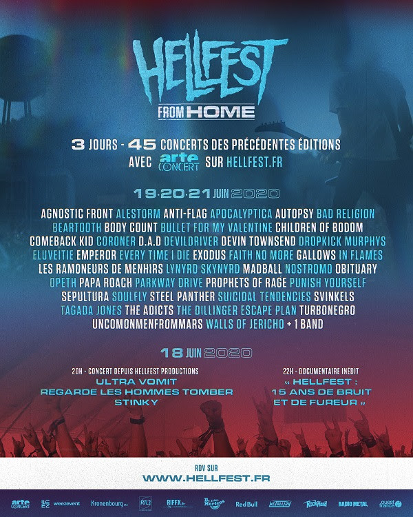Hellfest, Hellfest from home, rediffusion, Arte Concert, Hellfest Productions, 2020