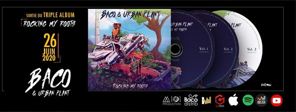 Flyer sortie du triple album Rocking My Roots - Baco & Urban Plant