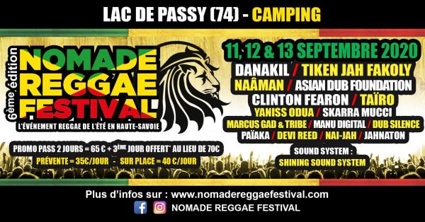 nomade reggae festival, 2020, programmation