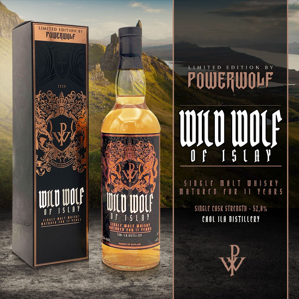 powerwolf, whisky, wild wolf of islay, best of the blessed