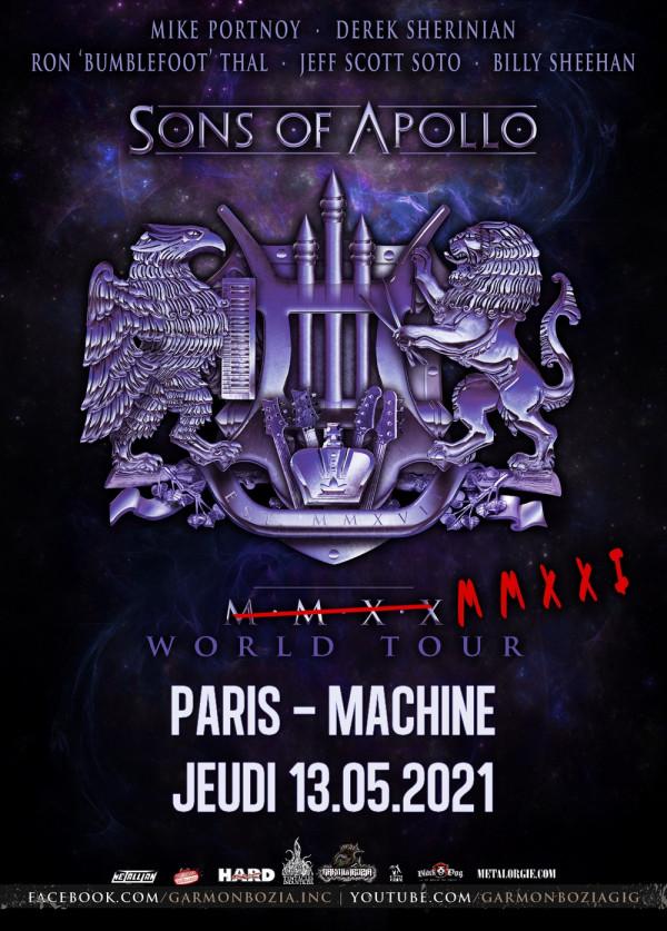 2021, concert, garmonbozia, sons of apollo, la machine, paris