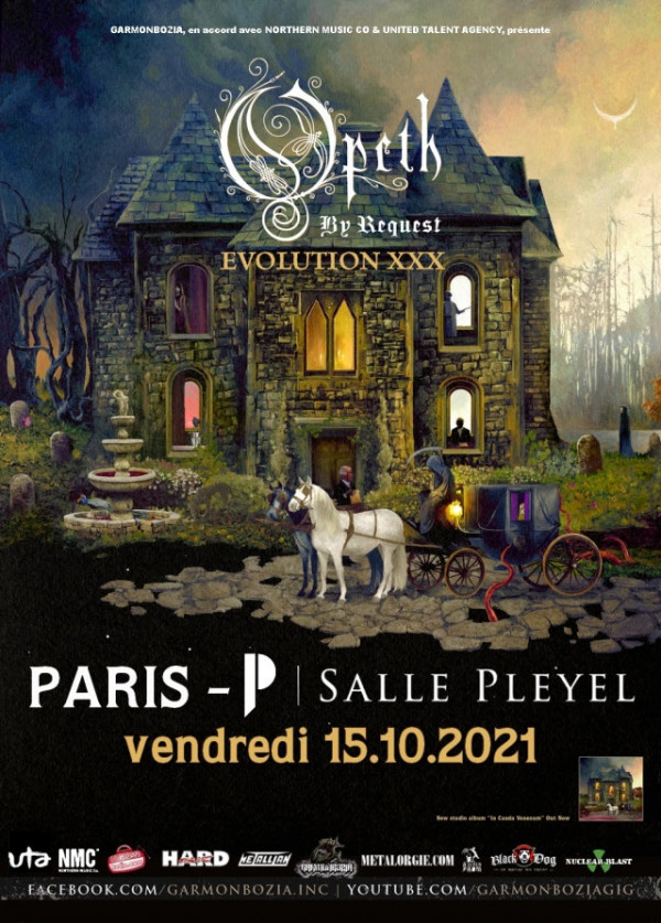 Garmonbozia, Opeth, concert, tournée, 2021, Paris, By request, Evolution xxx, Salle Pleyel