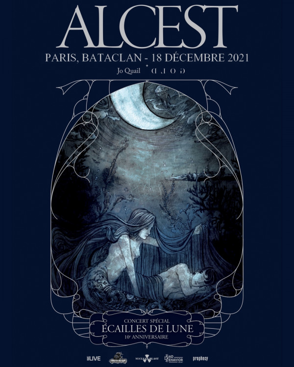 alcest, concert, Ecailles de Lune, dixième anniversaire, Bataclan, Paris, 2021