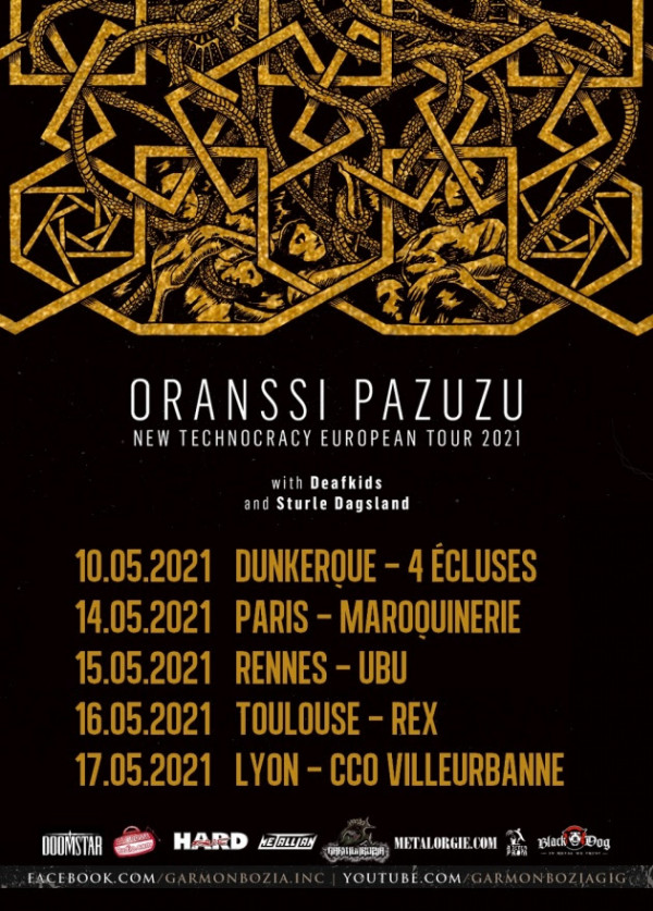 Report, 2021, Oranssi Pazuzu, new technocracy european tour, Sturle Dagsland, 2020, dates françaises,
