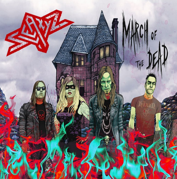 Sleazyz, Devil talking in my head, nouvelle vidéo, Horror Metal, Glam, Punk, Heavy, March Of The Dead,
