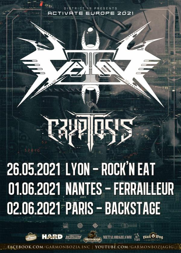 Vektor, Cryptosis, thrash, concerts, France, 2021, Garmonbozia Inc.