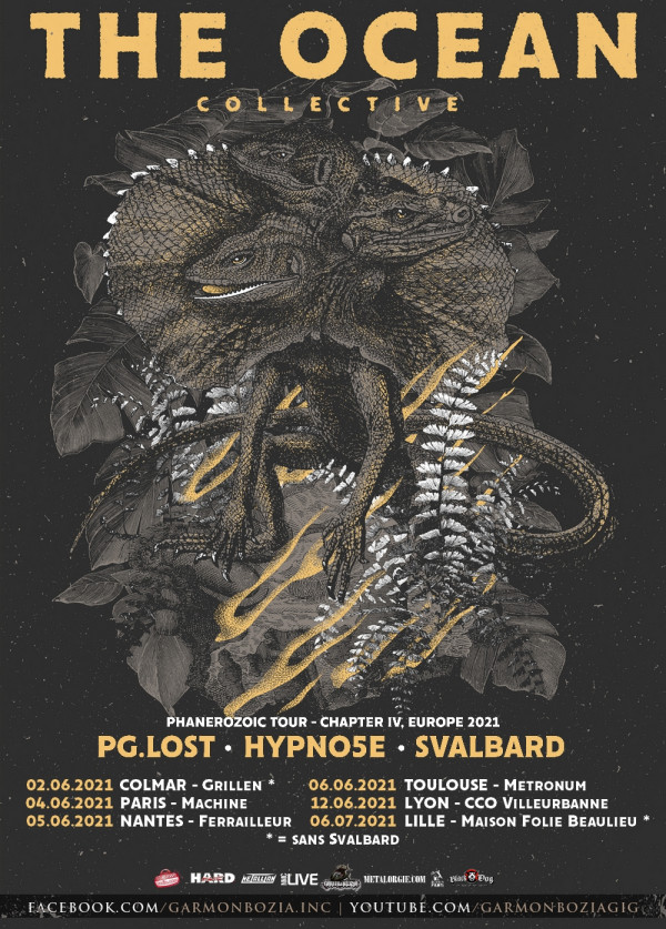 2021, concerts, tournée, the ocean, hypno5e, pg.Lost, svalbard