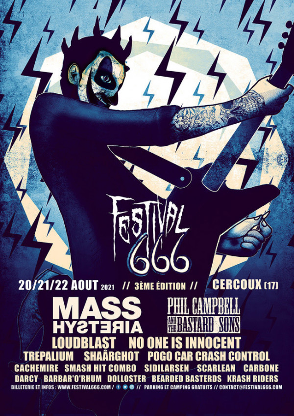 2021, festival, festival 666, mass hysteria, phil campbell and the bastard sons, loudblast, no one is innocent